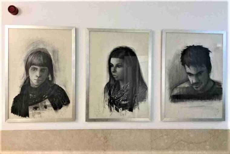 Tres dels retrats de Jordi Jové