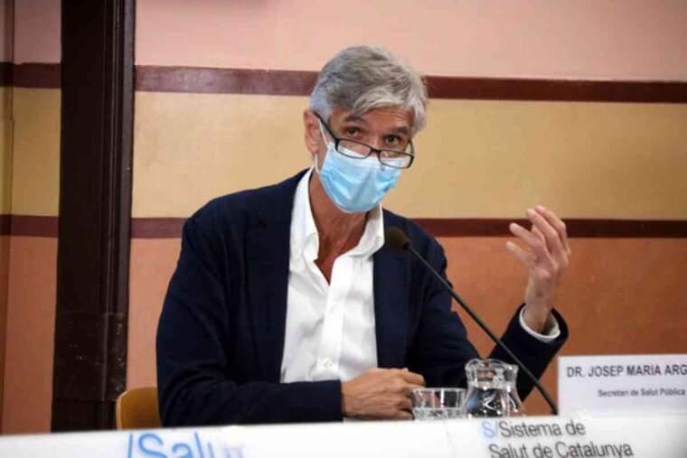 El secretari de Salut Pública, Josep Maria Argimon, en una roda de premsa per analitzar la situació epidemiològica de Catalunya