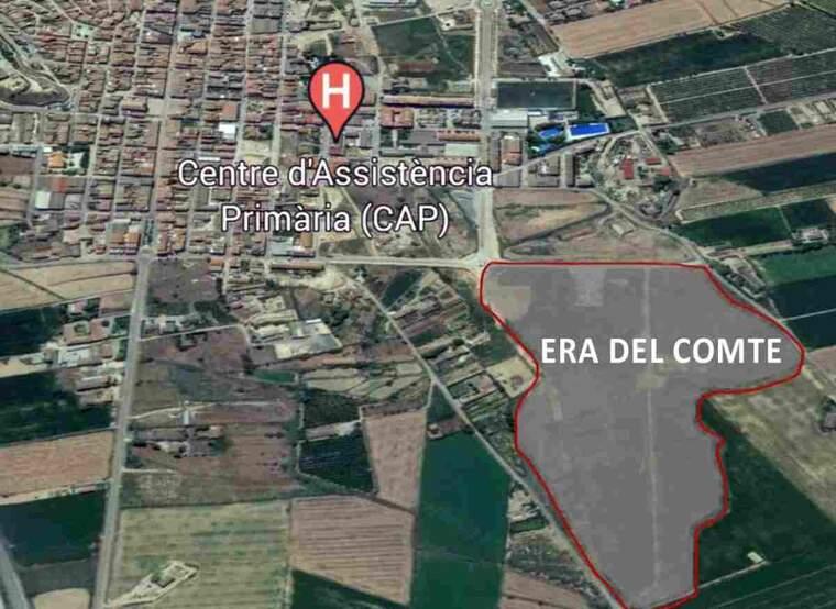Imatge de la nova zona residencial d'Almacelles