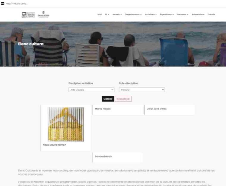 Imatge de la pàgina d'Elenc Cultura
