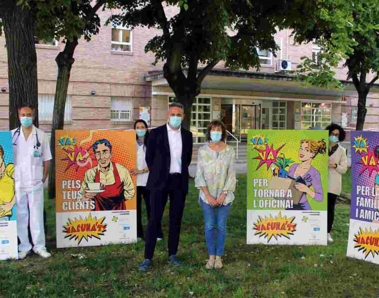 Imatge de la presentació de la campanya sobre la vacunació a Lleida