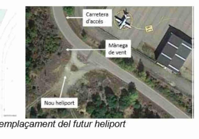 Imatge de l'heliport de la Seu d'Urgell