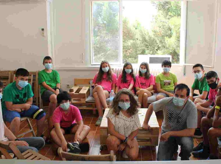 Imatge del camp de treball de l'any passat a Cervera