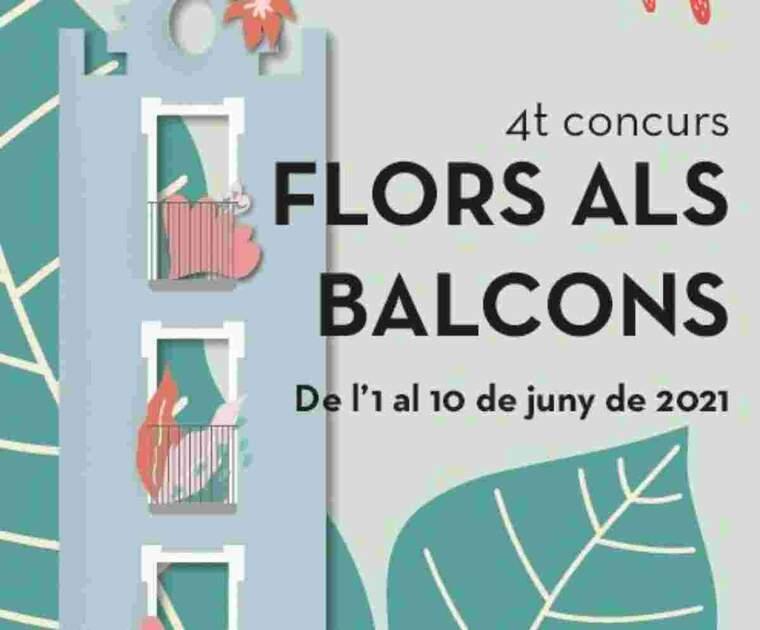 Imatge del cartell de Flors als Balcons de Balaguer