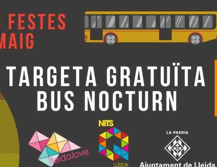 Imatge del cartell del servei de transports de Lleida per la festa major