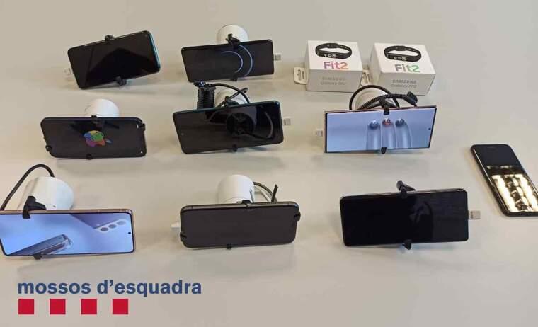 Imatge dels aparells sostrets a Tàrrega