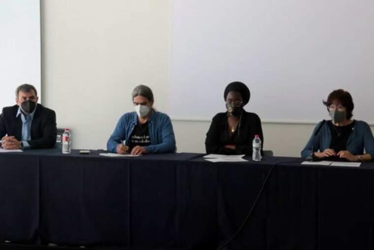 Pla mitjà dels tinents d'alcalde de l'Ajuntament de Lleida, Sergi Talamonte i Montse Pifarré, i dels regidors Mariama Sall i David Melé