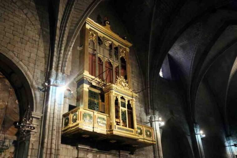 Pla obert del moble de l'orgue de la Catedral de Solsona