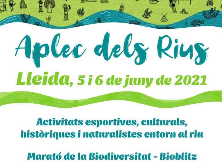 Imatge del cartell de l'Aplec dels Rius de Lleida