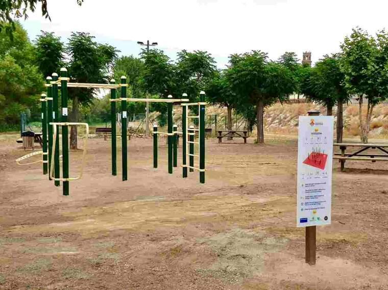 Imatge d'un circuit d'educació física a Torres de Segre
