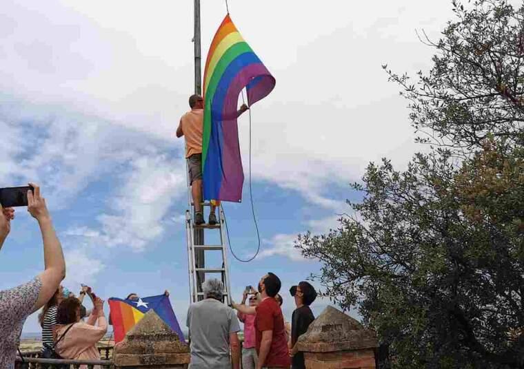 Imatge d'una bandera LGTBI