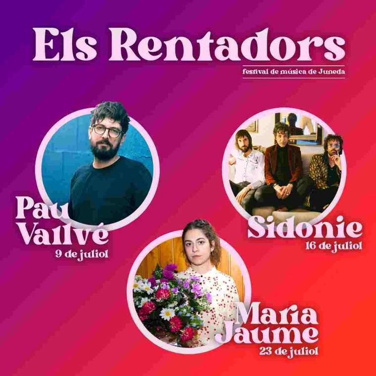 Cartell dels artistes presents al festival Els Rentadors de Juneda