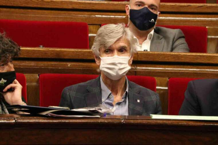El conseller Josep Maria Argimon, durant el ple al Parlament del 16 de juny de 2021