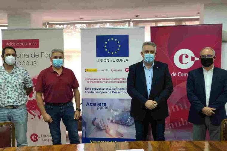 Imatge de la presentació de la nova oficina de la Cambra de Comerç de Lleida