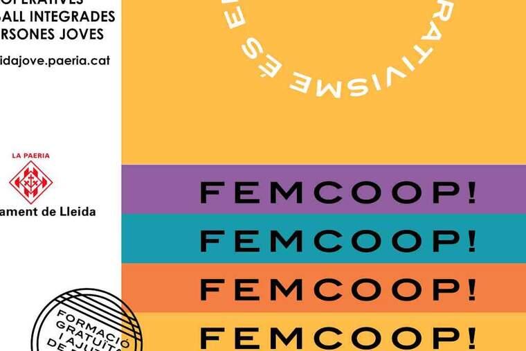 Imatge del cartell de Femcoop de Lleida