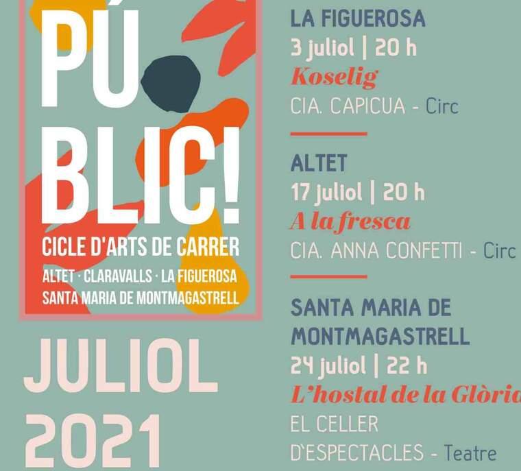 Imatge del cartell del festival d'arts de Tàrrega