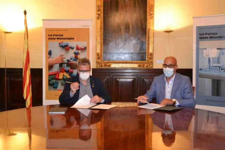 Imatge del president de la Diputació de Lleida i el de la COELL