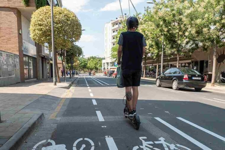 Imatge d'un carril bici de Lleida