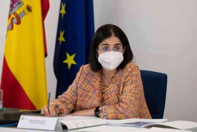 La ministra de Sanitat, Carolina Darias, durant el Consell Interterritorial de Salut Pública