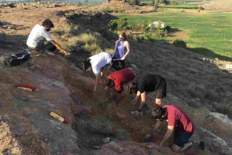 Pla obert de l'excavació al jaciment ibèric de Gebut, a Soses