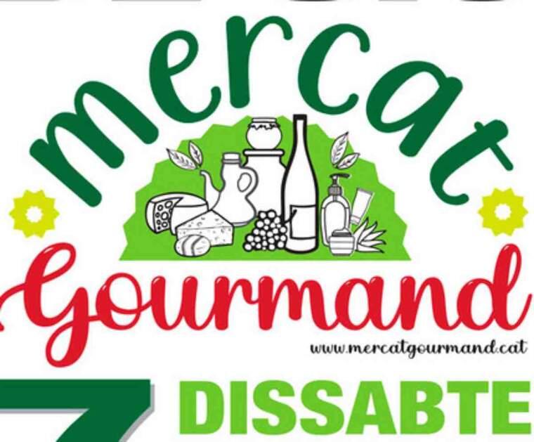 Imatge del cartell del Mercat Gurmand de la Sentiu de Sió