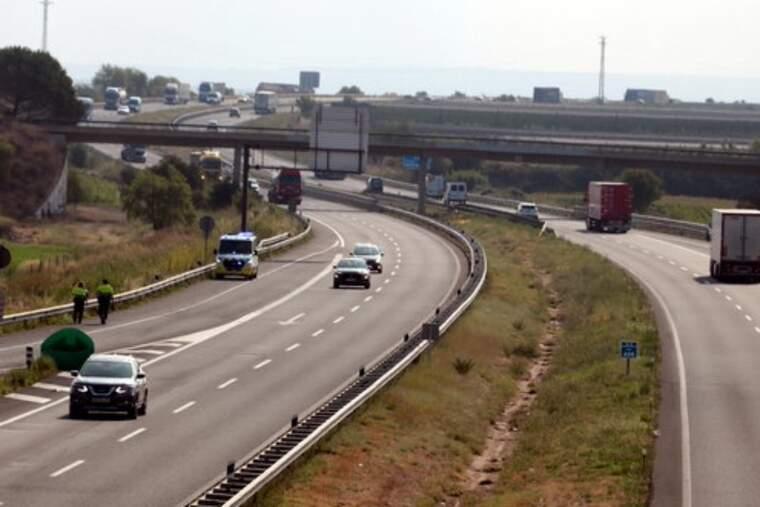 Punt quilomètric 495,8 de l'A-2 en direcció Lleida, on ha estat l'accident. Imatge del divendres 6 d'agost.