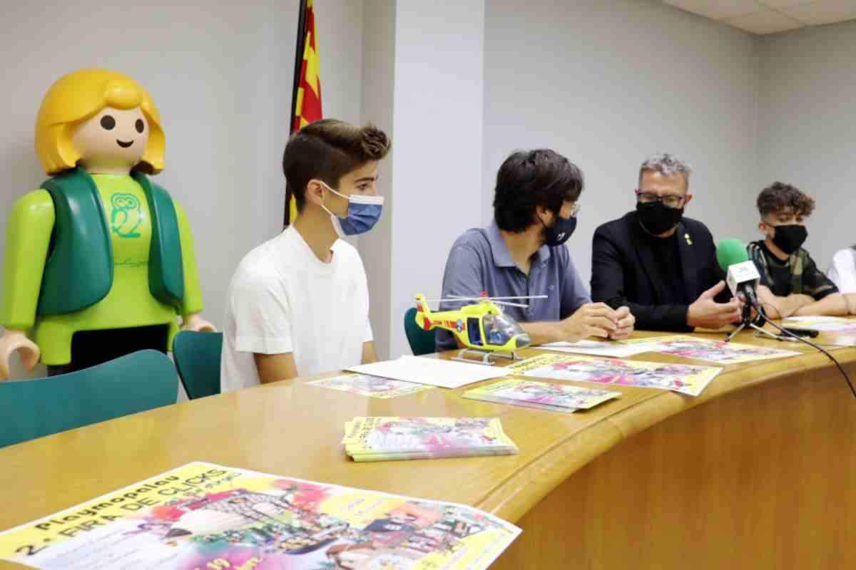 Imatge de la presentació de la fira del Playmobil al Palau d'Anglesola