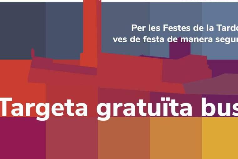Cartell del servei de bus de les festes de Lleida