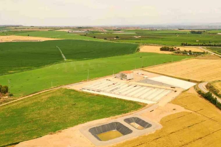 Imatge de la planta de compostatge d'Alcarràs