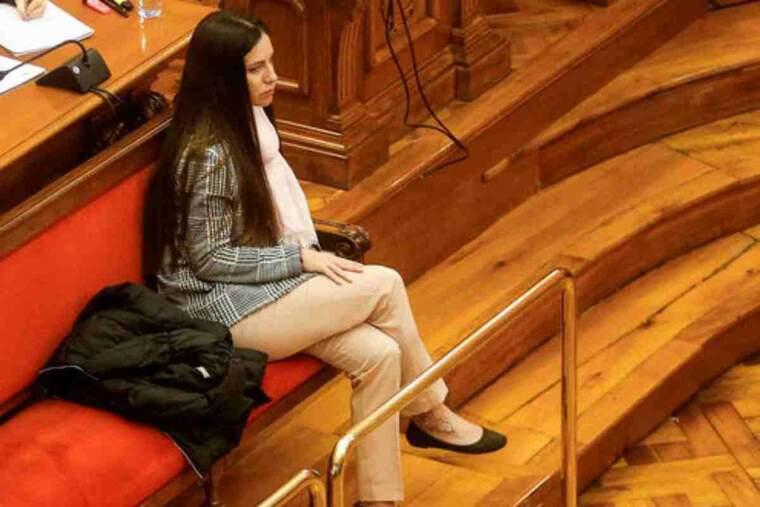 Imatge de l'acusada Rosa Peral en la sessió del judici del 16 de març del 2020