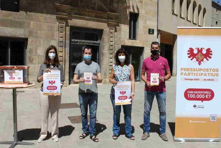 Imatge de presentació de la nova campanya de pressupostos participatius a Tàrrega