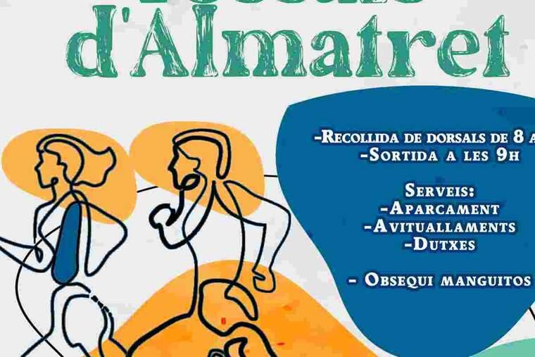 Imatge del cartell de la Cursa d'Almatret