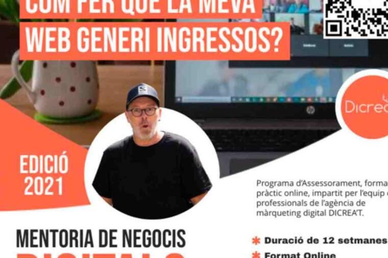 Imatge del cartell de la mentoria de negocis de la Diputació de Lleida