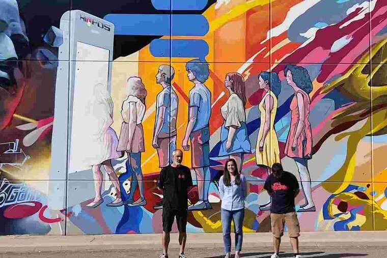 Imatge del mural guanyador a Torrefarrera