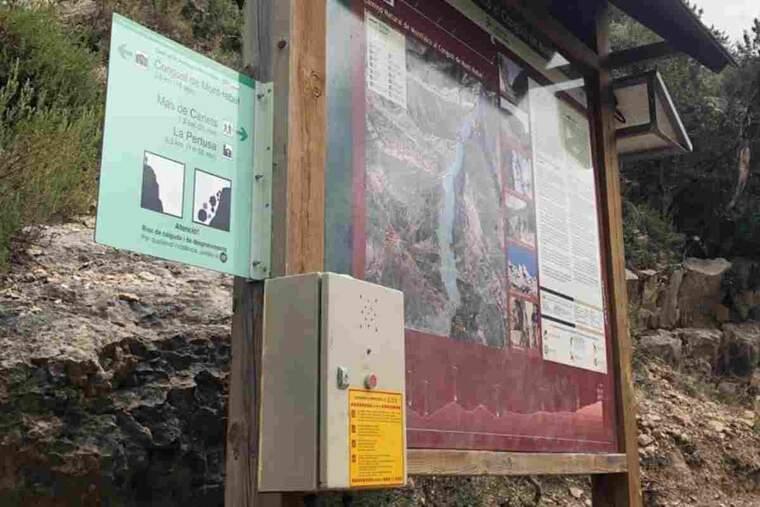 Imatge del polsador d'emergència de Montrebei