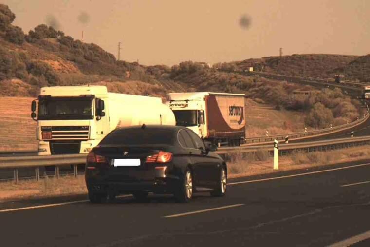 Imatge d'un cotxe enxampat pel radar a Lleida