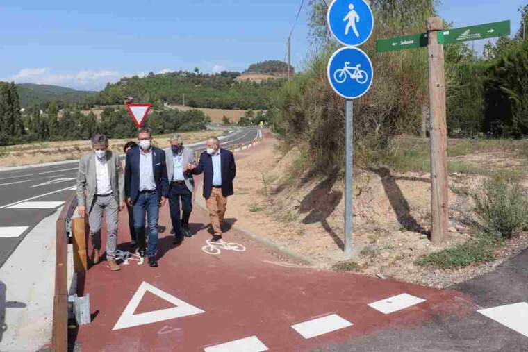 Imatge d'una carretera de Solsona