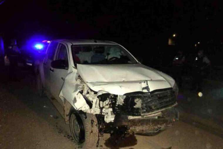 El tot terreny que ha provocat l'accident mortal a l'A-22 a Lleida, amb un fort cop al davant,