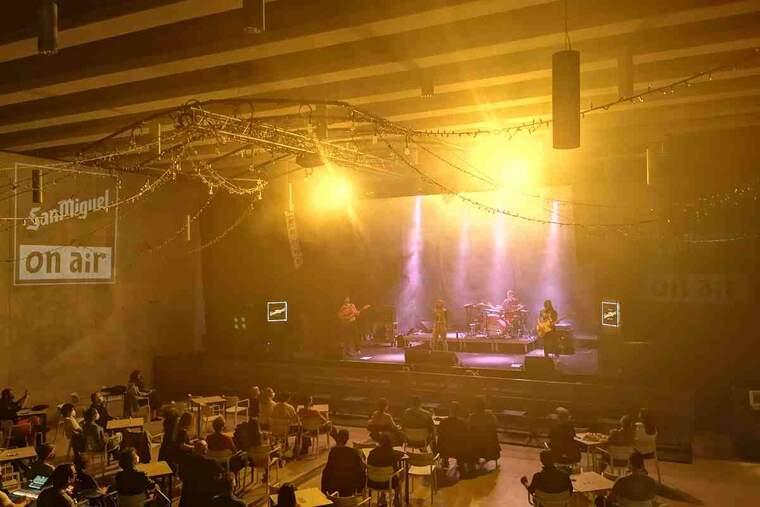 Imatge d'un concert de Belako