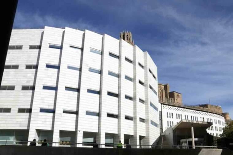 Pla obert dels jutjats de Lleida. Imatge del 6 d'octubre de 2021.