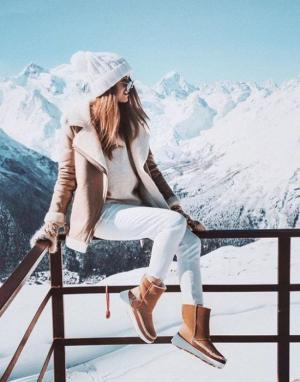 Mujer con ropa de invierno