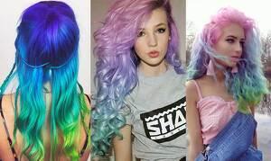 Cómo lograr un cabello arcoiris