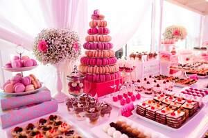 gran mesa de dulces para niña