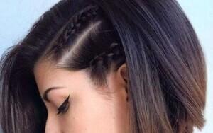 Peinado con trenzas para pelo corto paso a paso