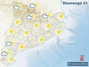 Mapa de la previsió per aquest diumenge