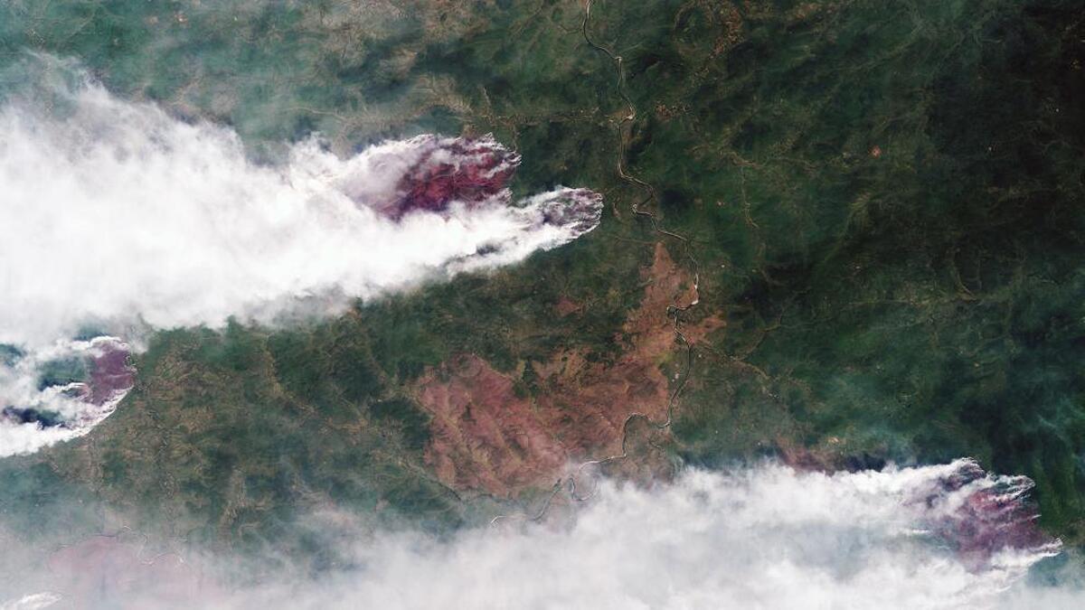 Imatge de satèl·lit dels incendis siberians