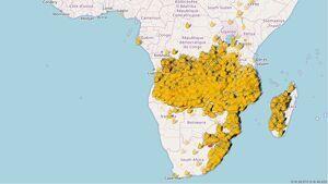 La superfície cremada d'Àfrica ja supera la de l'Amazones