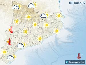 Mapa de la previsió per aquest dilluns