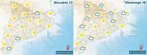 Mapa de previsió per aquest dissabte i diumenge