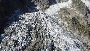 Imatge de la glacera Planpincieux, situada a la Vall d'Aosta